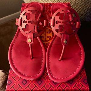 Tory Burch Dk. Fuchsia Miller Sandals